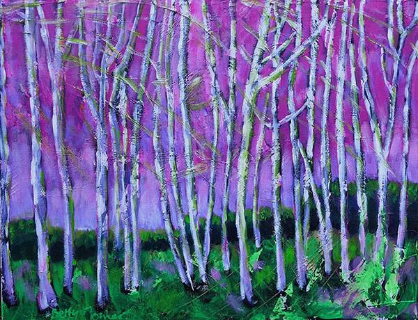 """Birchtrees in spring"""